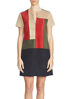 1. State Colorblock Shift Dress