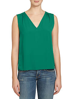 1. State Sleeveless V-Neck Blouse