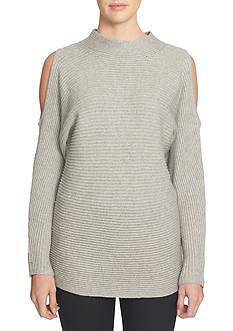 1. State Cold Shoulder Mock Neck Sweater