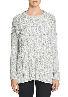 1. State Cable Front Poncho Sweater