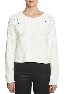 1. State Lace Up Shoulder Sweater