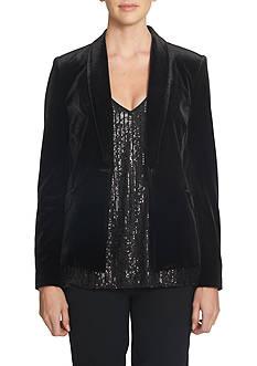 1. State Soft Velvet Tuxedo Jacket