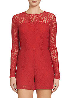 1. State Long Sleeve Lace Romper