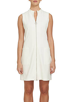 1. State Mock Neck Zip Front Dress