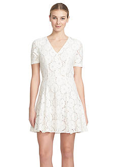 1.State Lace Fit and Flare Dress