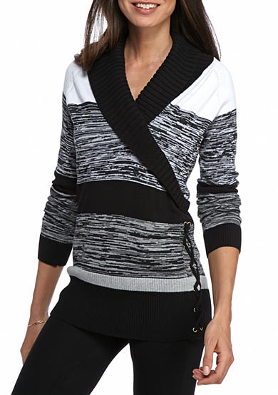 New Directions® Pullover Surplice Sweater