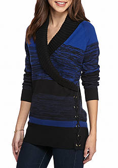 New Directions Pullover Surplice Sweater