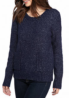 New Directions Solid Brushed Pullover Sweater