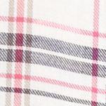 Plus Size Blouses: Pink Spice Combo New Directions Weekend Plus Size Plaid Crochet Trim Top