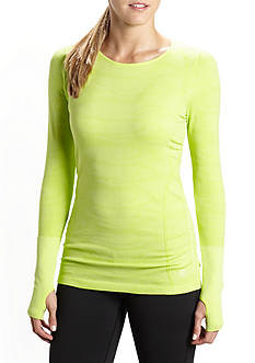 be inspired Long Sleeve Seamless Jaquard Tee