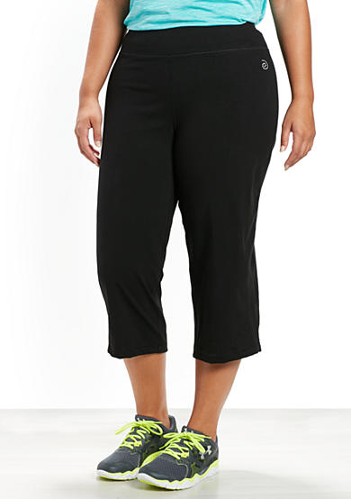 be inspired® Plus Size Basic Capris