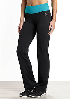 be inspired Slim Leg Pant with Solid Color Waistband