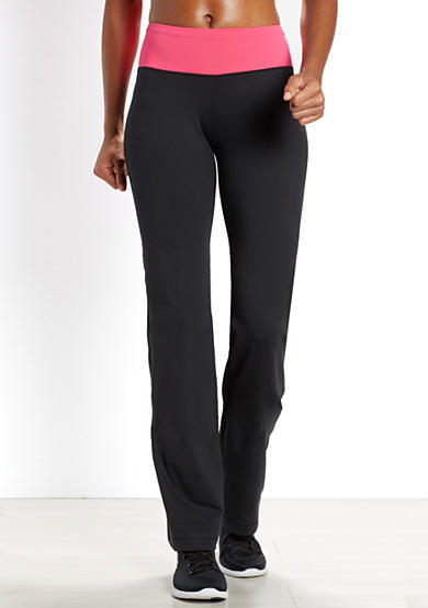 be inspired® Slim Leg Pant with Solid Color Waistband