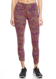 be inspired Lattice Ankle Printed Capri's