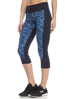 be inspired® Performance Capri With Space Dye Front Panel