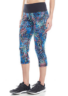 be inspired Printed Palm Capri Leggings