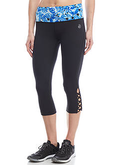be inspired Lattice Ankle Printed Capris