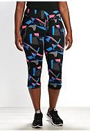 be inspired® Plus Size Print Perfect Capri