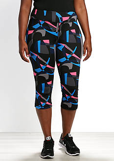 be inspired Plus Size Print Perfect Capri