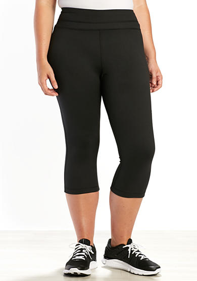 be inspired® Plus Size Slim Fit Performance Capris