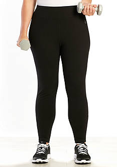 be inspired Plus Size Solid Performance Leggings