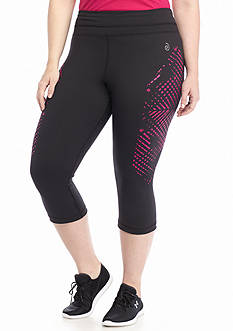 be inspired® Plus Size Side Printed Performance Capris