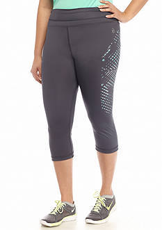 be inspired® Plus Size Side Print Performance Capris