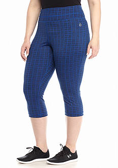 be inspired® Plus Size Printed Performance Capri