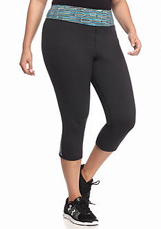 Under Armour® Plus Size Contrast Panel Capri