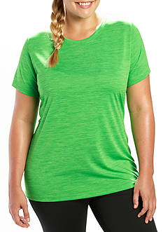 be inspired Plus Size Heathered Short Sleeve Top