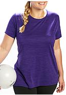 be inspired® Plus Size Heathered Short Sleeve