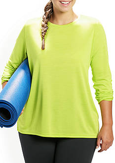 be inspired® Plus Size Long Sleeve Scoop Neck Tee