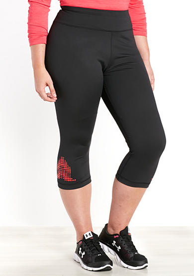 be inspired® Plus Size Rubber Dot Print Capris