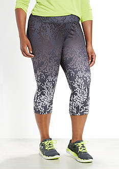 be inspired® Plus Size Slim Fit Printed Capris