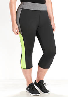 be inspired Plus Size Color Blocked Capris