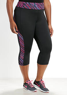 be inspired® Plus Size Printed Panel Capris