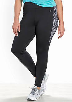 be inspired Plus Size Perforated Side Panel Leggings