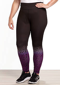 be inspired Plus Size Perfromace Printed Leggings