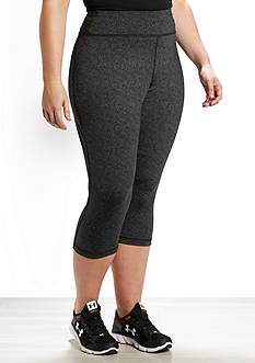 be inspired Plus Size Slim Fit Performance Capris