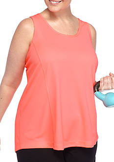 be inspired Plus Size Lightweight Mesh Breezy Razor Back Tank