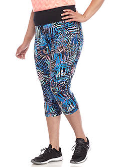 be inspired Printed Plus Size Capris