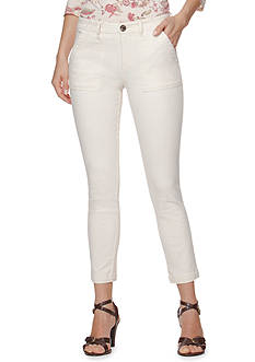 Chaps Cropped Stretch-Twill Pant<br>