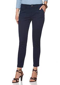 Chaps Cropped Stretch-Twill Pant