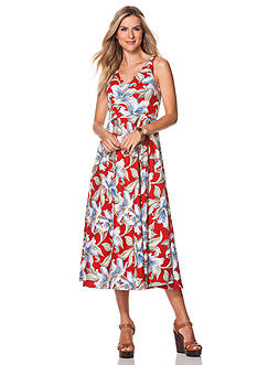 Chaps Floral Jersey Maxi Dress