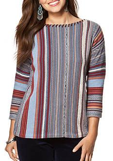 Chaps Striped Fair Isle Sweater