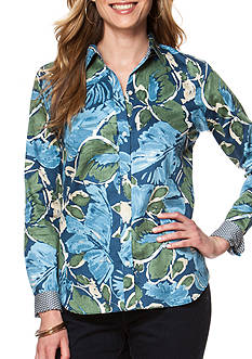 Chaps Non Iron Floral Sateen Top
