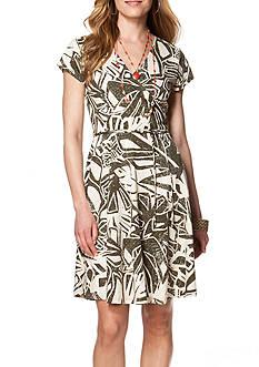 Chaps Printed Wrap Dress
