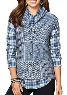 Chaps Patchwork Sweater Vest