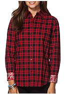 Chaps Non-Iron Plaid Cotton Shirt