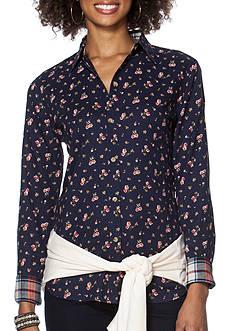 Chaps Floral Button-Up Shirt